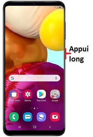 éteindre Samsung A12