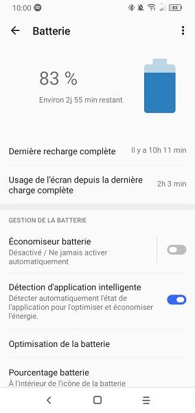 test Batterie Alcatel 1S
