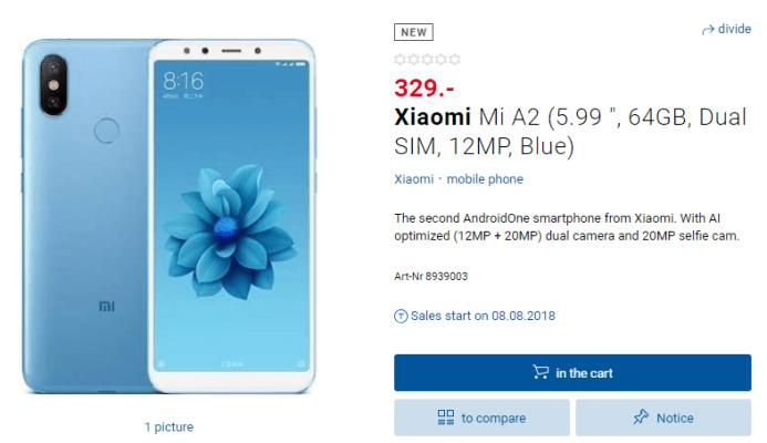 Xiaomi Mi A2 ser ut att lanseras inom kort