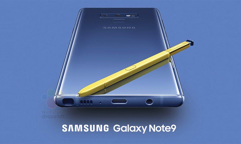 Ny, högupplöst bild på Samsung Galaxy Note 9 publiceras