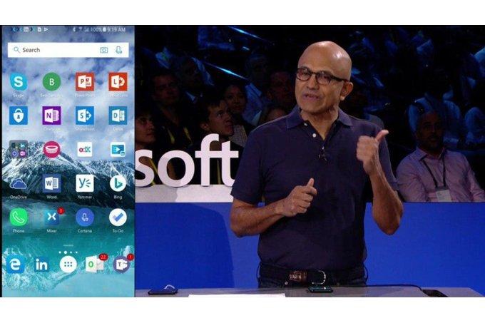 Microsoft har givit upp Windows Mobile, marknadsför sig via konkurrenterna
