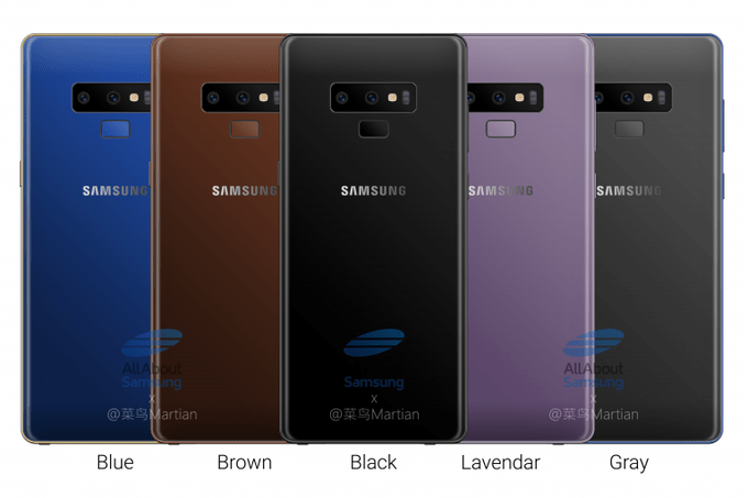 Färgvalen för Samsung Galaxy Note 9 avslöjade – av S-Pen