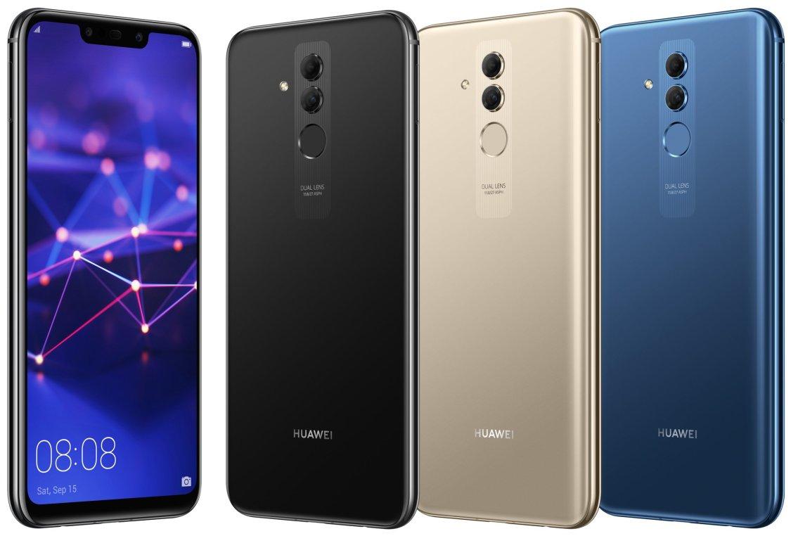 Huawei Mate 20 Lite läcker ut i samtliga kulörer