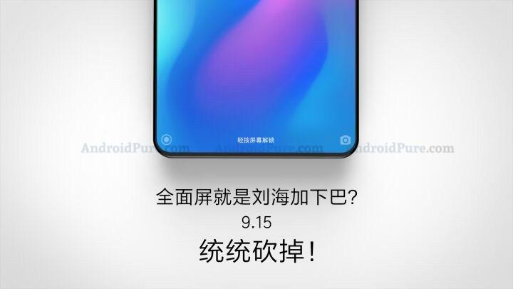 Xiaomi Mi Mix 3 ser ut att presenteras 15 september