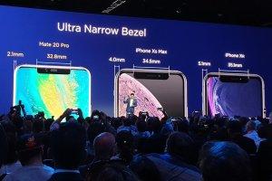 Så stora flärpar har iPhone Xs Max och iPhone XR
