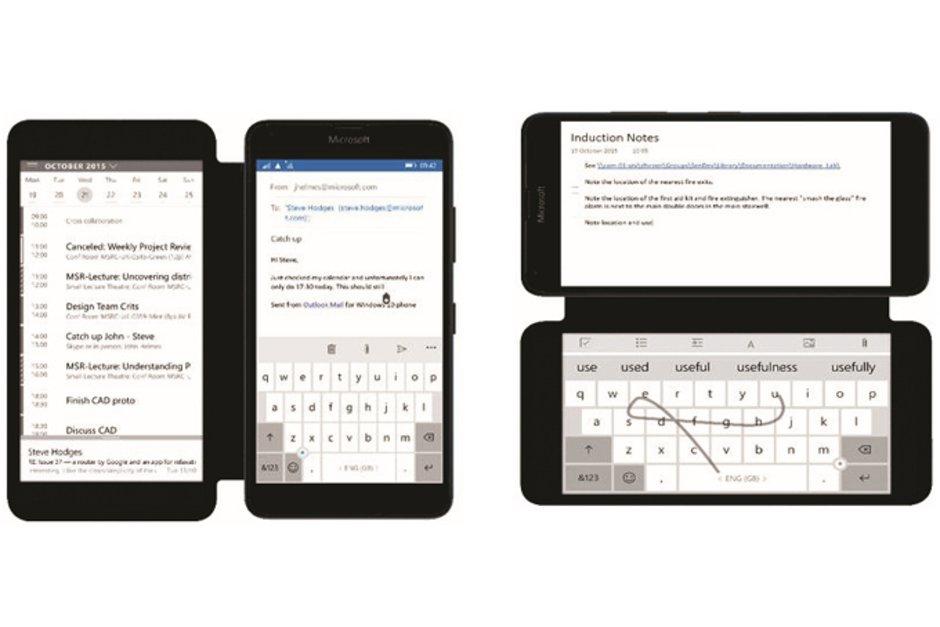 Microsoft jobbar på smartphone med dubbla displayer!