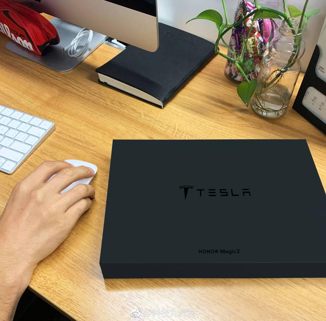 Tesla-mobilen ser ut att vara på ingång