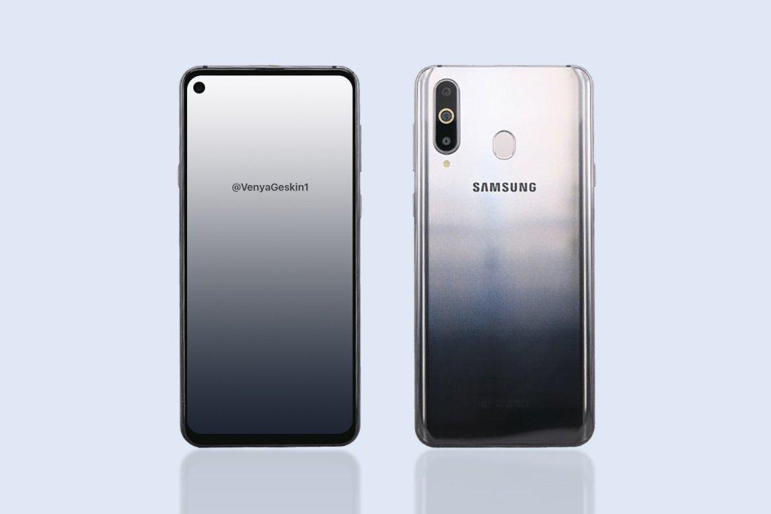Ben Geskin publicerar bild på Samsung Galaxy A8s strax före tillkännagivandet