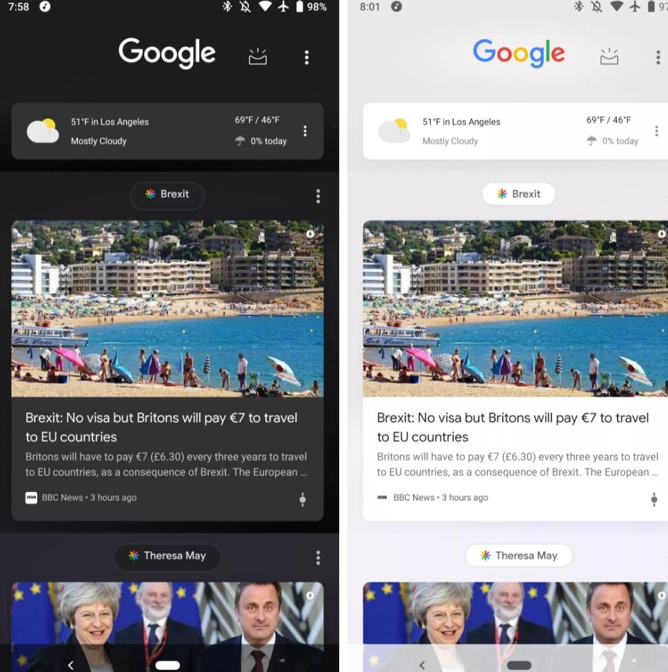 Google Discover får mörkt tema överallt!