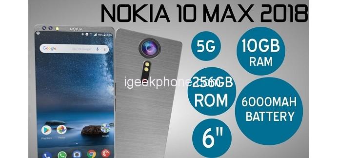 Nokia 10 Max sägs få 10 GB RAM och 256 GB inbyggt minne