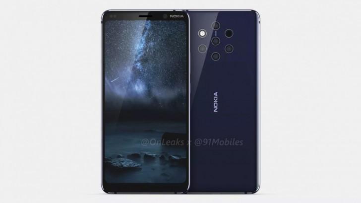 Ny bild visar att Nokia 9 PureView troligtvis kommer få fem kameror på baksidan