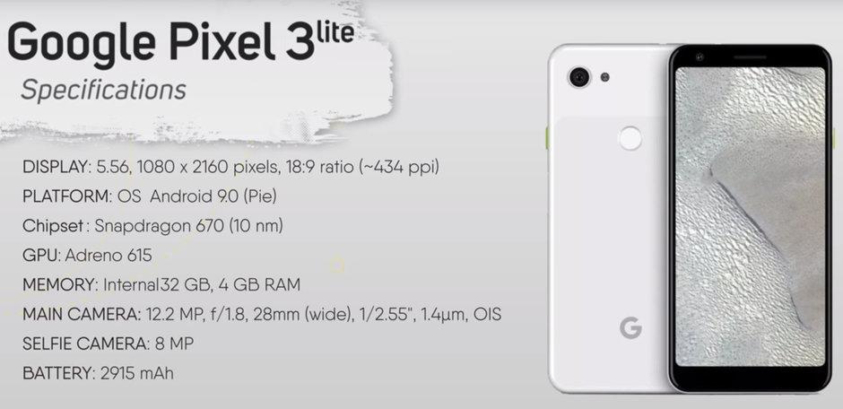 Så här ser Google Pixel 3 Lite ut – bygger på Qualcomm Snapdragon 670