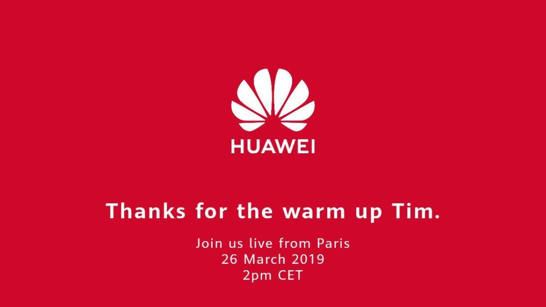 Huawei tackar för uppvärmningen