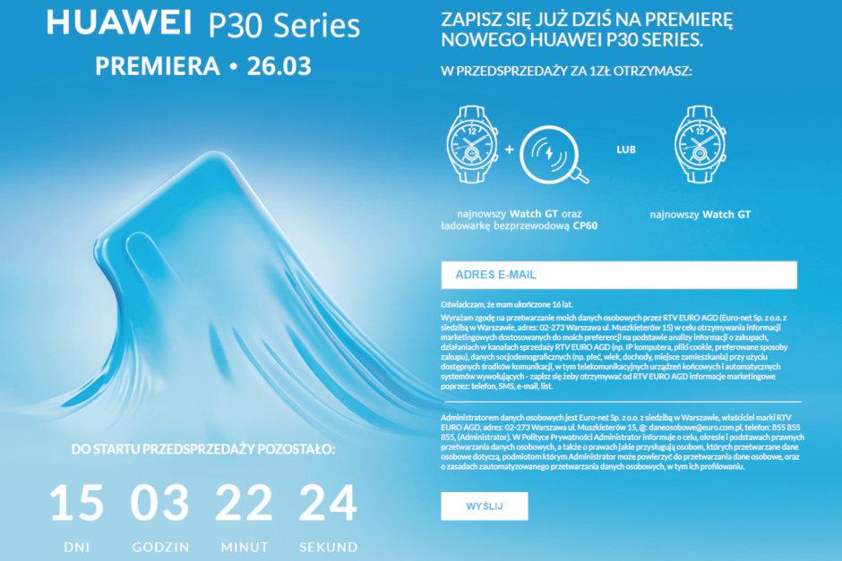 Huawei kan komma att bjuda på Watch GT vid köp av P30 eller P30 Pro