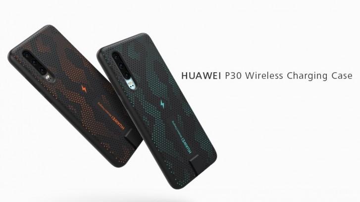 Huawei P30 får trådlös laddning med hjälp av ett fodral