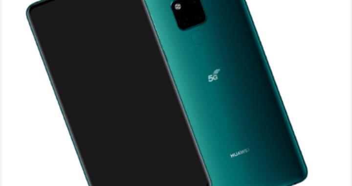 Huawei Mate 20X 5G fastnar på bild