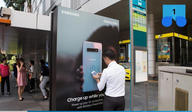 Samsung Galaxy S10 har fått egna laddstationer i Singapore