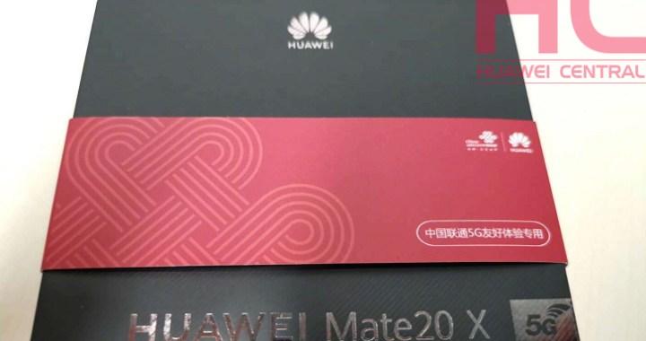Huawei Mate 20X 5G: låda dyker upp i det vilda