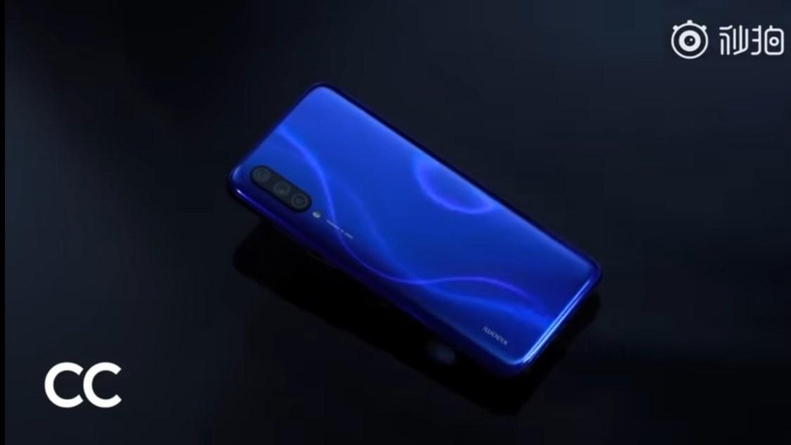 Xiaomi CC9 dyket upp i blått