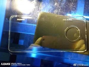 Baksidan till Huawei Mate 30 Pro fastnar på bild