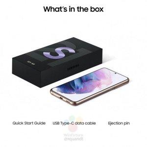 Samsung Galaxy S21: läckt bild visar att den inte kommer med någon laddare eller några hörlurar i lådan