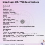Qualcomm Snapdragons 775 specifikationer läcker