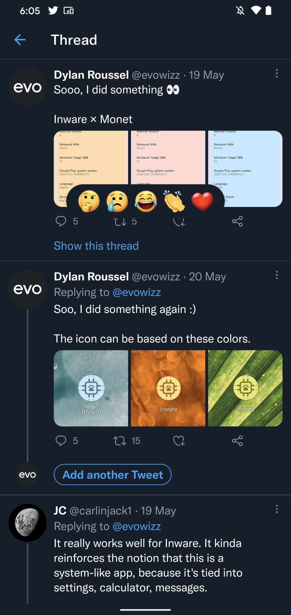 Reaktioner för Twitter ser ut att vara på ingång