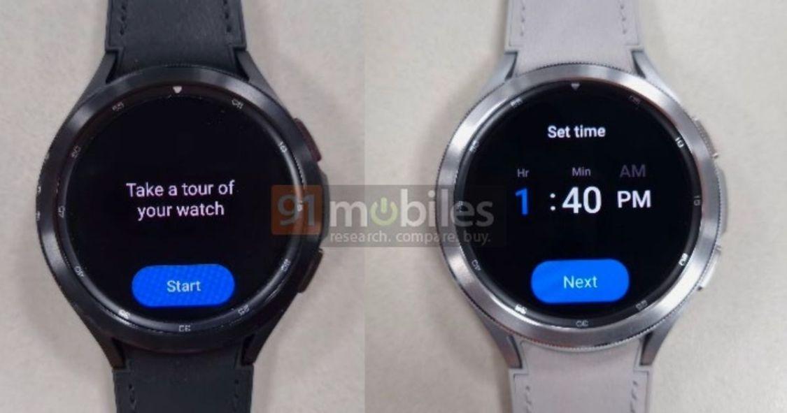 Samsung Galaxy Watch 4 fastnar i det vilda