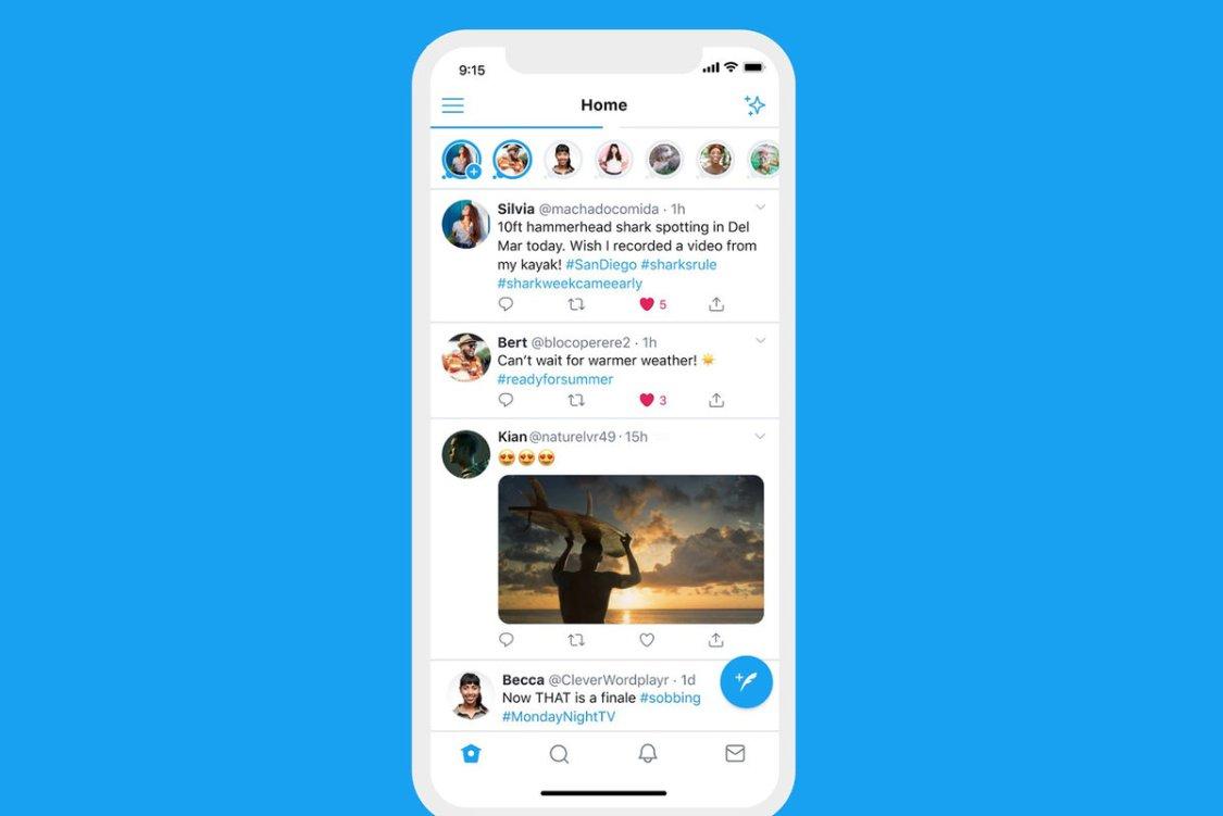 Twitter testar full screen Tweets