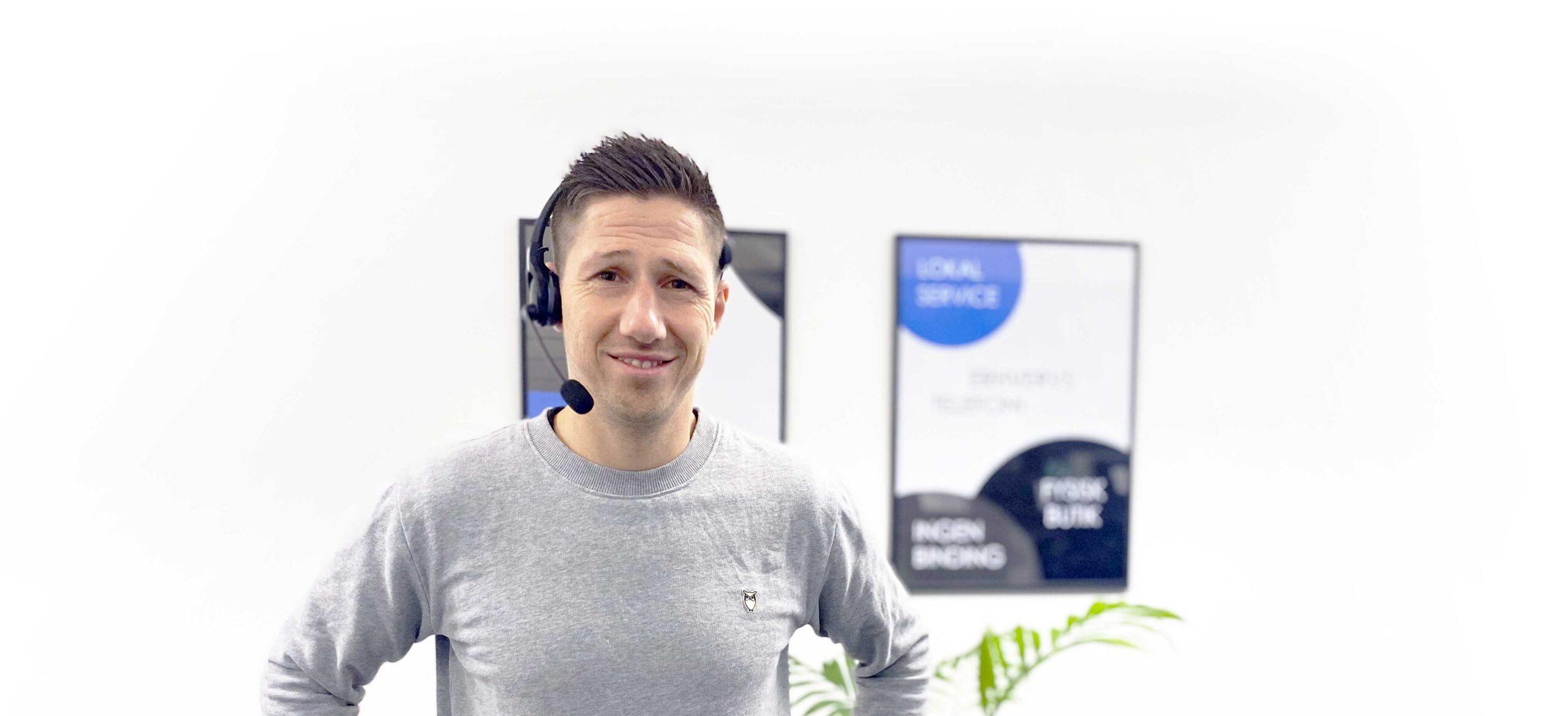 Marcello Cilea er ansvarlig for erhvervstelefoni i Viborg