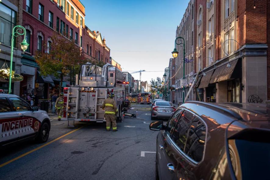 Explosion au centre-ville de Sherbrooke