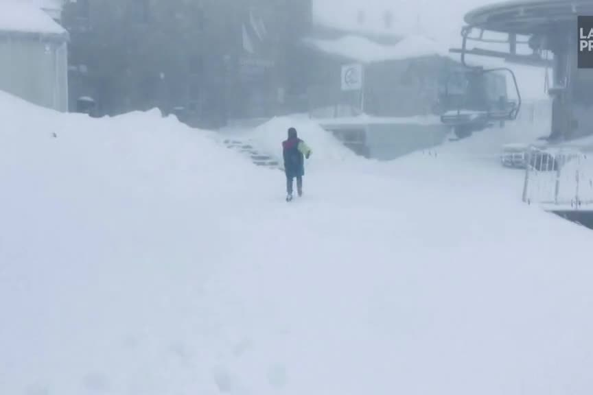 Chutes de neige inhabituelles dans les montagnes Tatras