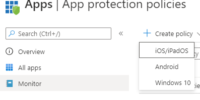 Creating App Protection Policies