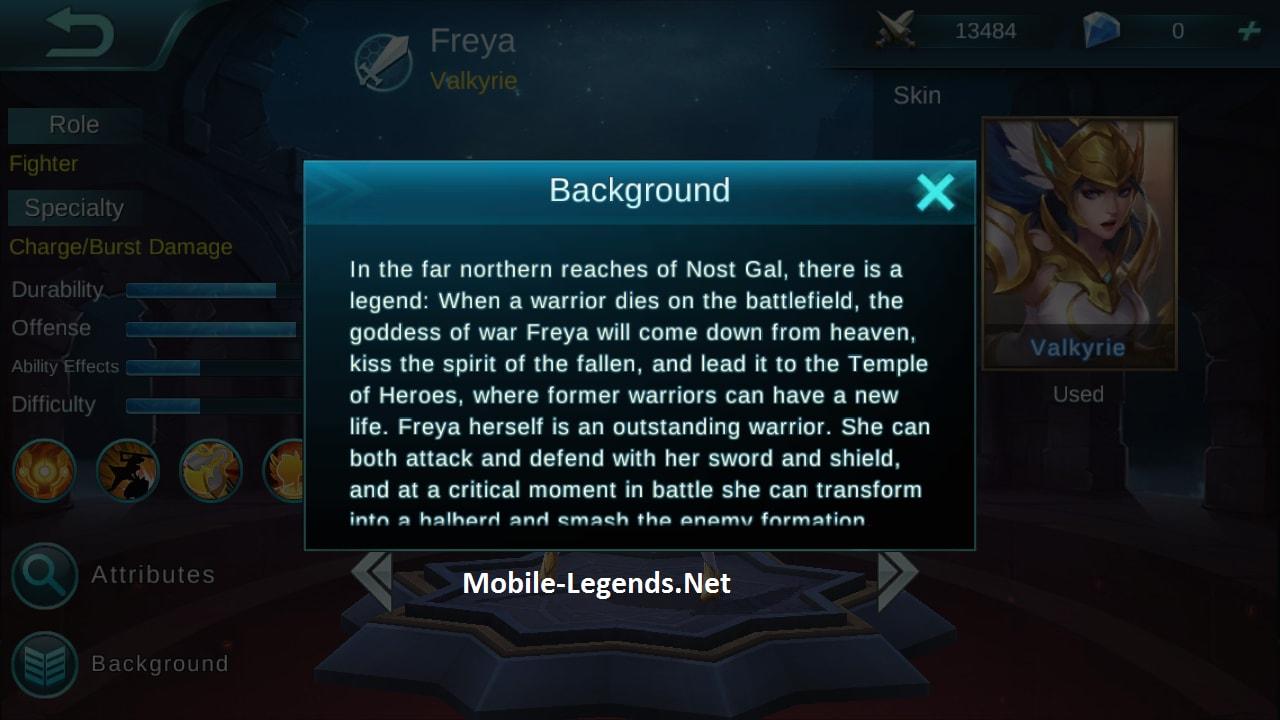 Freya Hero Features Mobile Legends