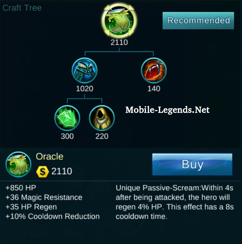 Giant Crafting Item Tree 2019 Mobile Legends