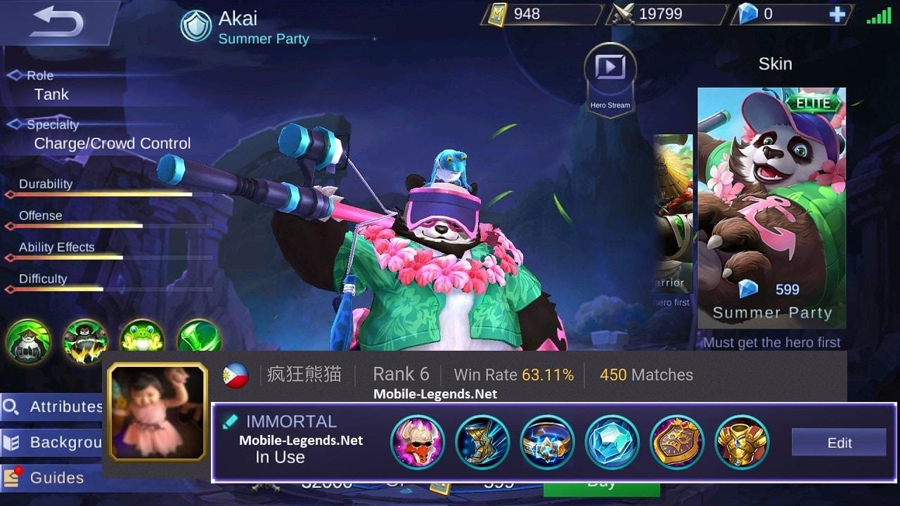 Akai New Immortal Tank Build 2018 Mobile Legends
