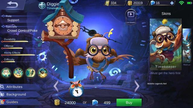 diggie features 2019 - mobile legends