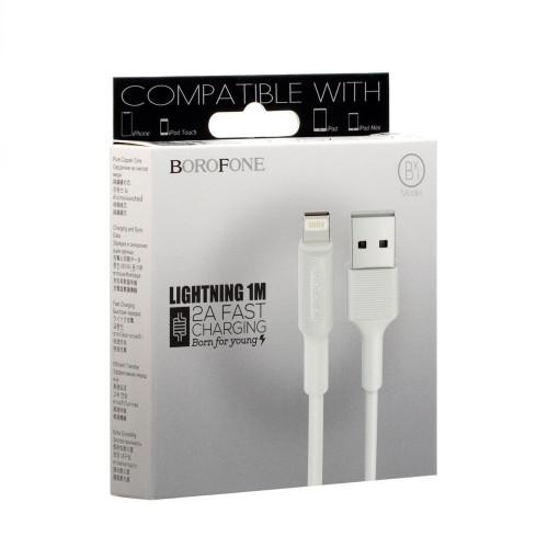 Кабель USB Borofone BX1 Lightning белый