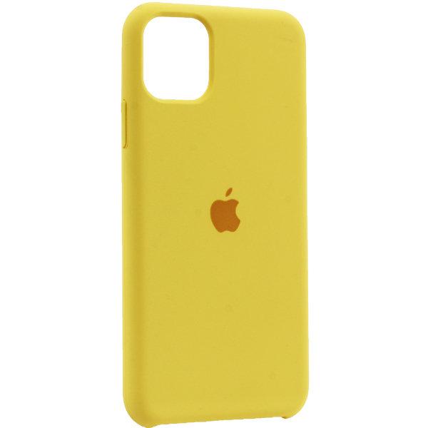 Silicon Case для iPhone 11 жёлтый
