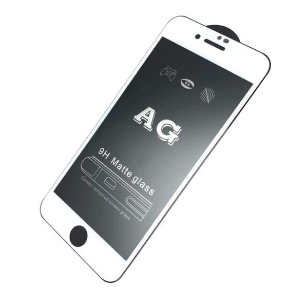 Матовое защитное стекло 5D Full Glue AG для iPhone 6   iPhone 6S белое