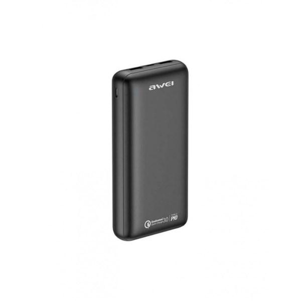Портативный аккумулятор AWEI P96K 20000 мАч черный