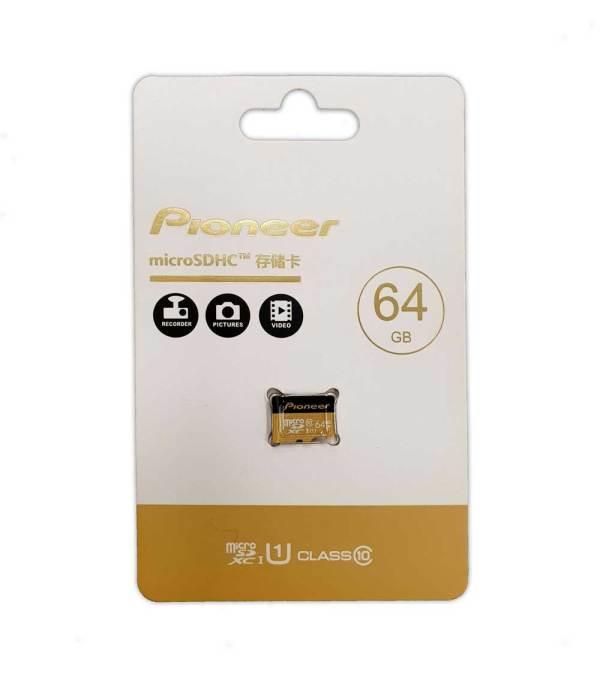 Карта памяти Pioneer Micro-SD 64Gb Class 10