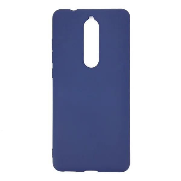Чехол силиконовый синий матовый для Nokia 5.1