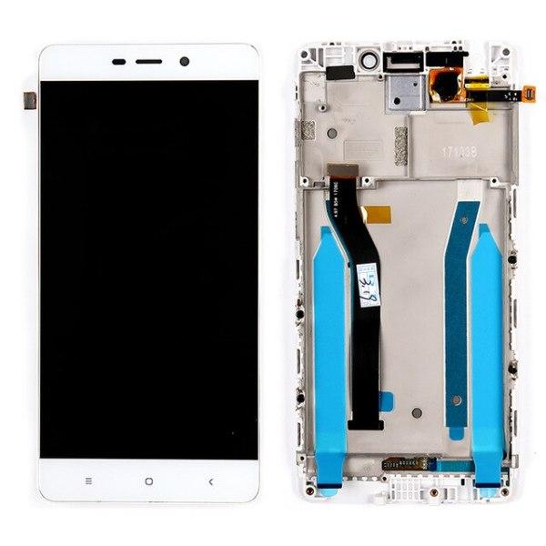 Дисплей для Xiaomi Redmi 4 Pro в рамке белый