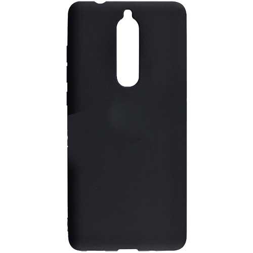 Чехол силиконовый черный матовый для Nokia 5.1