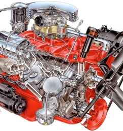 1955 chevrolet corvette engine david kimble cutaway illustration [ 1000 x 839 Pixel ]