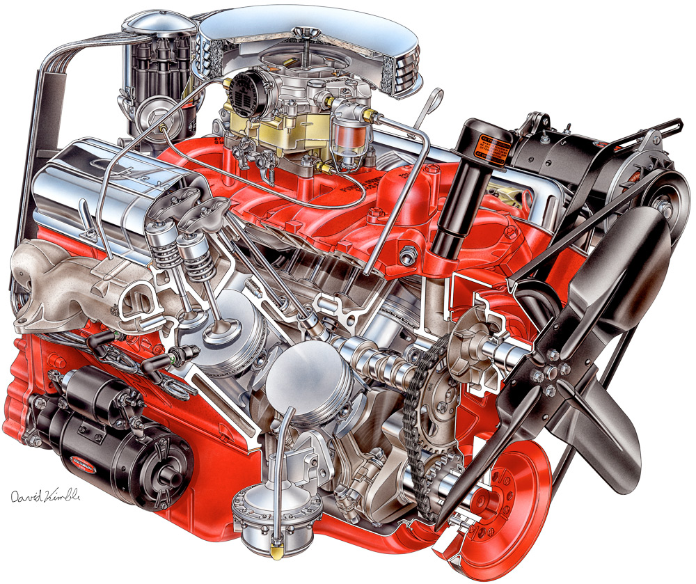 medium resolution of 1955 chevrolet corvette engine david kimble cutaway illustration