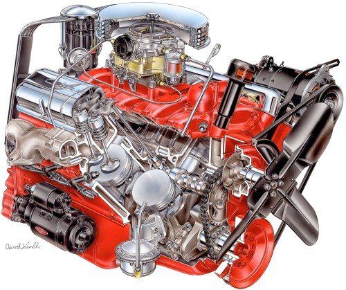 small resolution of 1955 chevrolet corvette engine david kimble cutaway illustration