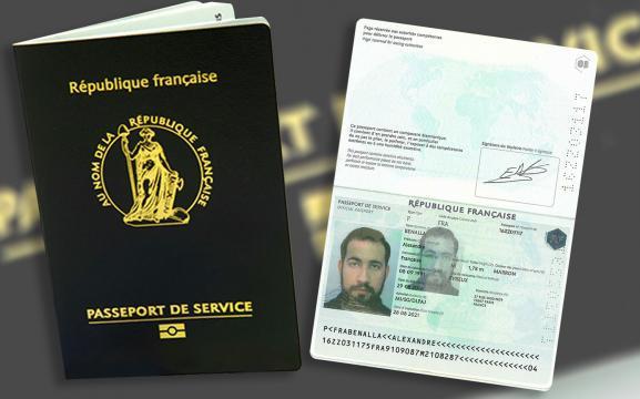 Passeport de service d\'Alexandre Benalla, obtenu en août 2016.