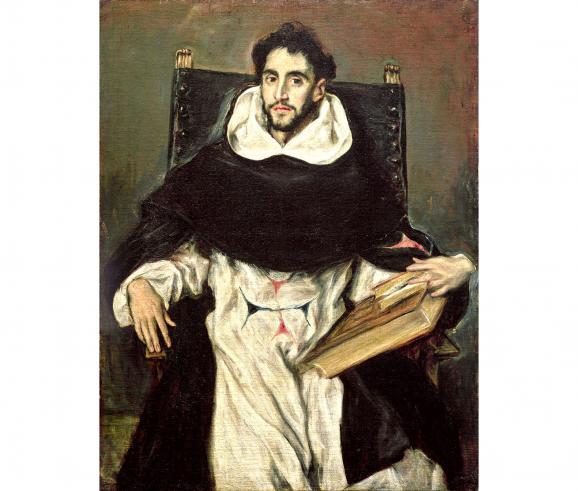Greco(Domínikos Theotokópoulos) Portrait de Fray Hortensio Felix Paravicino, Museum of Fine Arts, Boston
